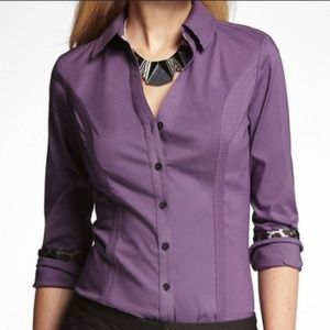 Express Women's Essential Button Down Shirt